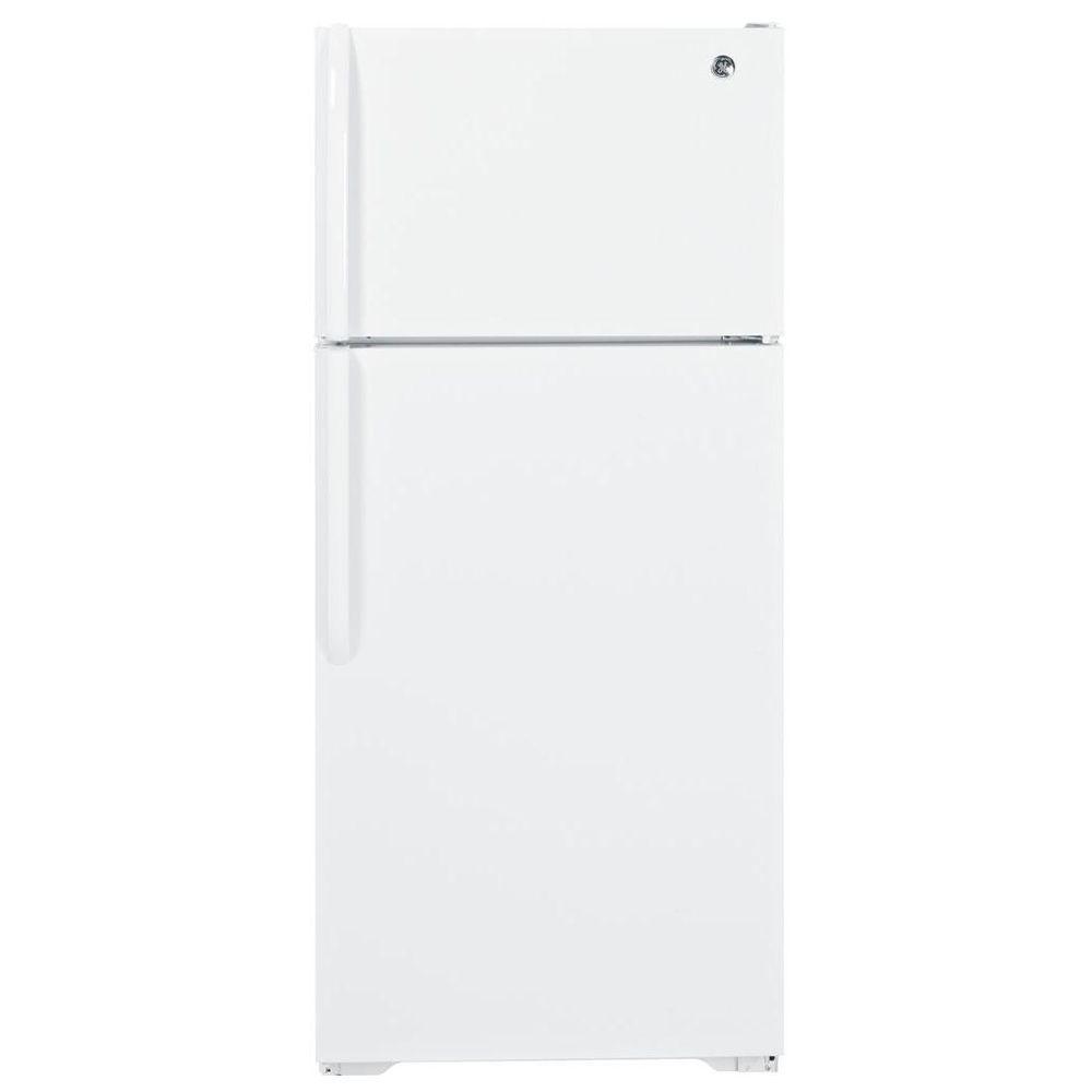 GE 28 in. W 16.5 cu. ft. Top Freezer Refrigerator in White