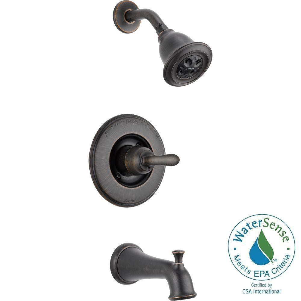 Delta Linden 1-Handle 1-Spray Tub and Shower Faucet Trim ...