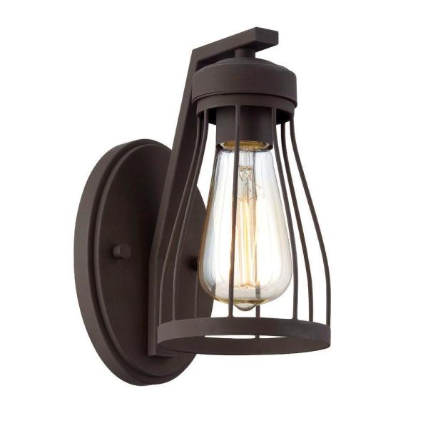 Brooklyn 1-Light Bronze Wall Sconce