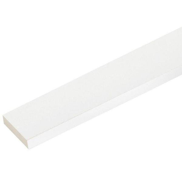 1 in. x 3-1/2 in. x 8 ft. White PVC Trim (4-Pack)