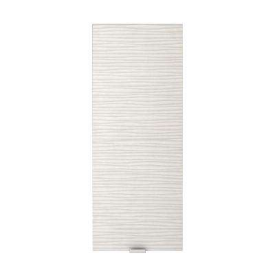 Textures Collection 12 in. W x 30 in. H x 5 in. D Surface-Mount Bathroom Medicine Cabinet in Contour White