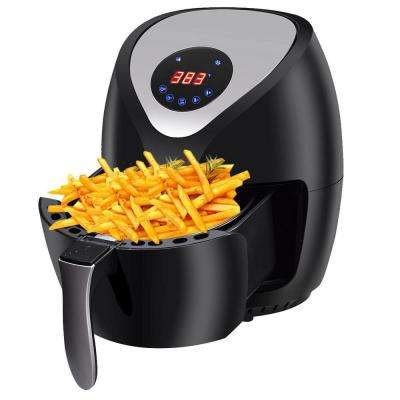 1400-Watt Electric Air Fryer Low-Fat Digital Touch Screen Timer Temperature Control