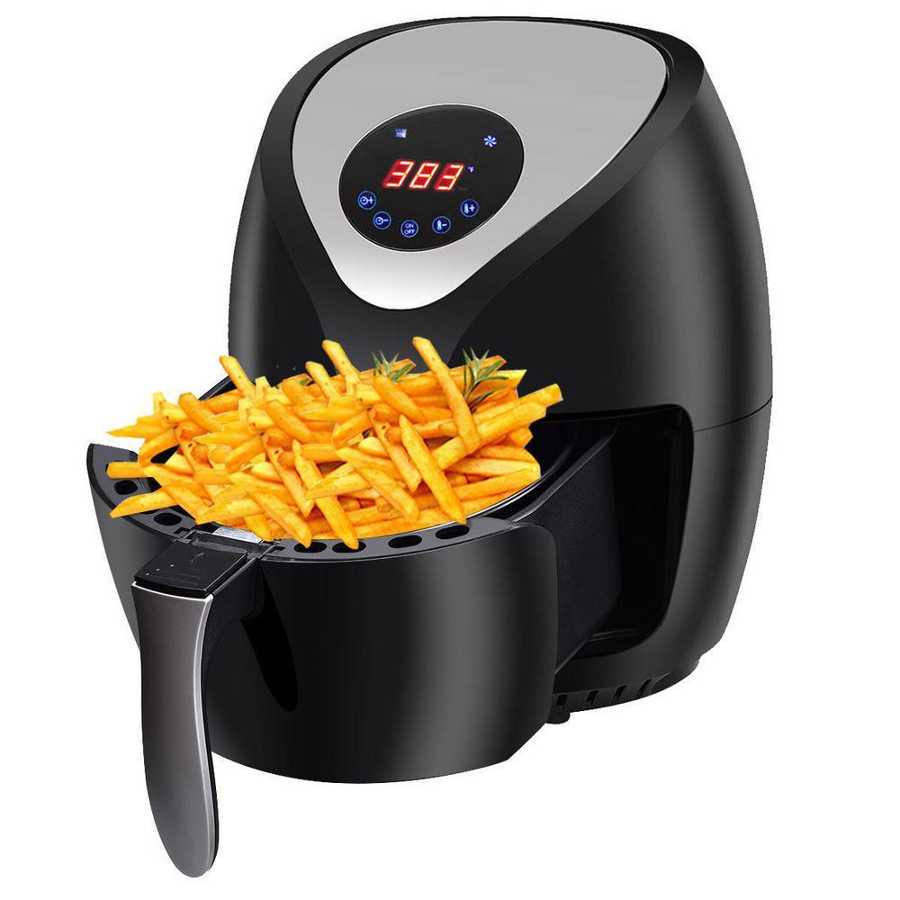 1400-Watt Electric Air Fryer Low-Fat Digital Touch Screen Timer Temperature Control
