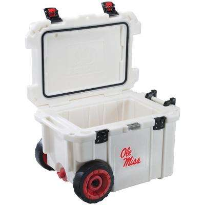 45 Qt. University of Mississippi Ole Miss Rebels Elite Wheeled Cooler