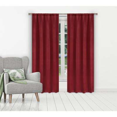 Ira Ruby Red Blackout Panels Pair - 38 in. W x 84 in. L (2-Piece)