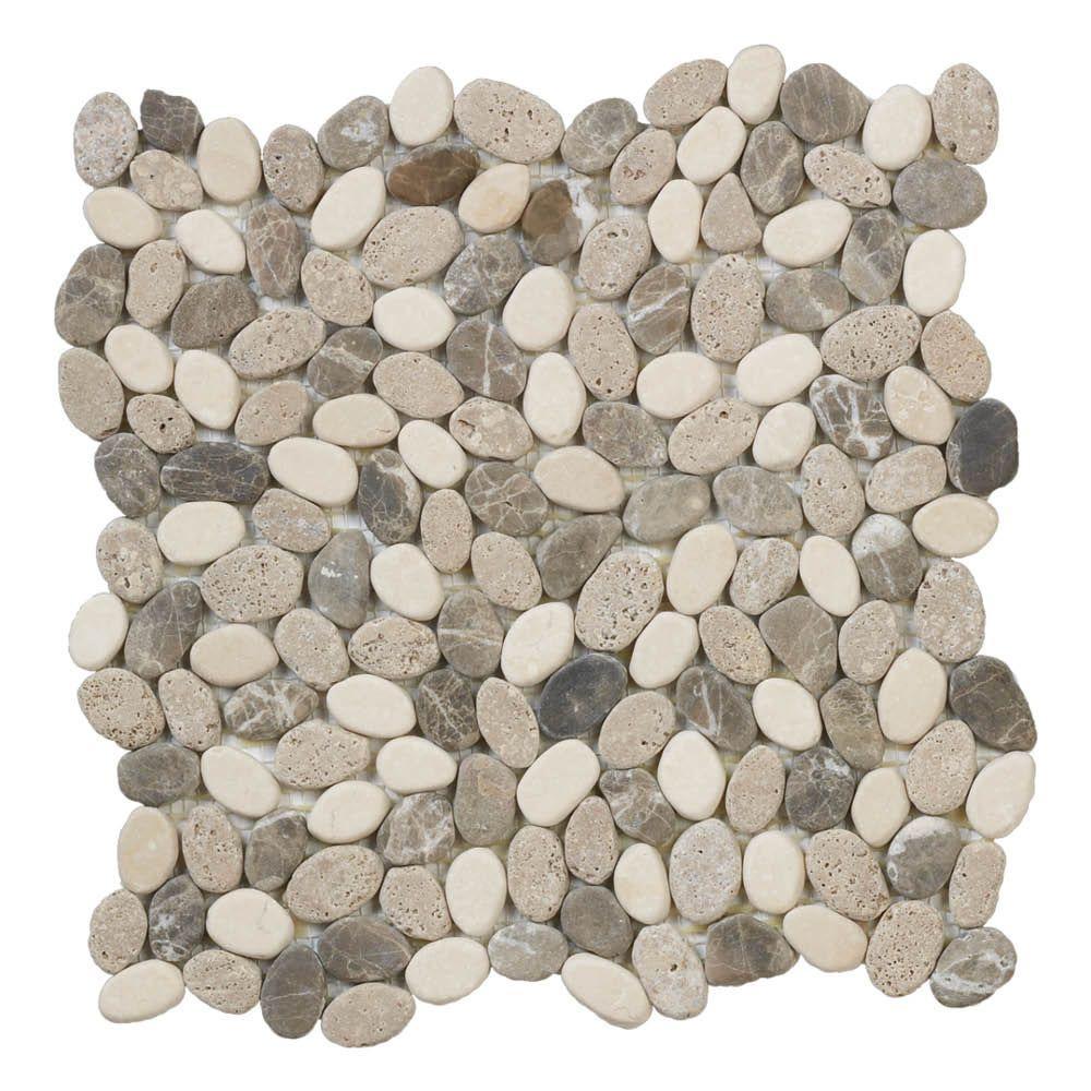Jeffrey Court Emperador River Rocks 11 5 In X 10 Mm Marble
