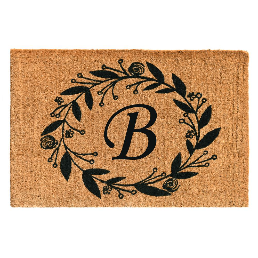 Black Rose 24 in. x 36 in. Monogram B Door Mat