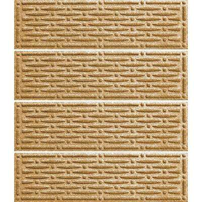 Gold 8.5 in. x 30 in. Mesh Stair Tread Cover (Set of 4)
