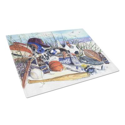 Sports on the Beach Tempered Glass Large Cutting Board