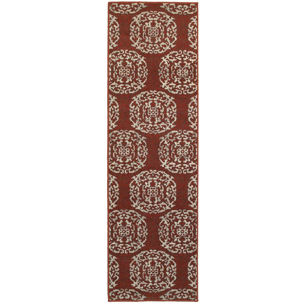 Home Decorators Collection Colonial Paprika 2 ft. x 8 ft. Runner Rug