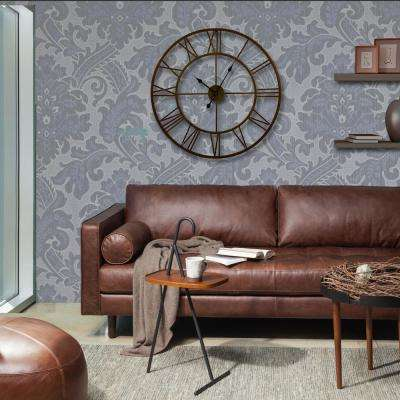 30 in. Antique Bronze Round Distressed Finish Metal Wall Clock