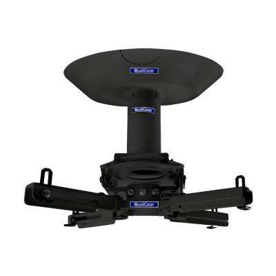 Pro-AV Projector Mount Kit with a Single Joist Ceiling Adapter, 3 in. 1.5 in., Black