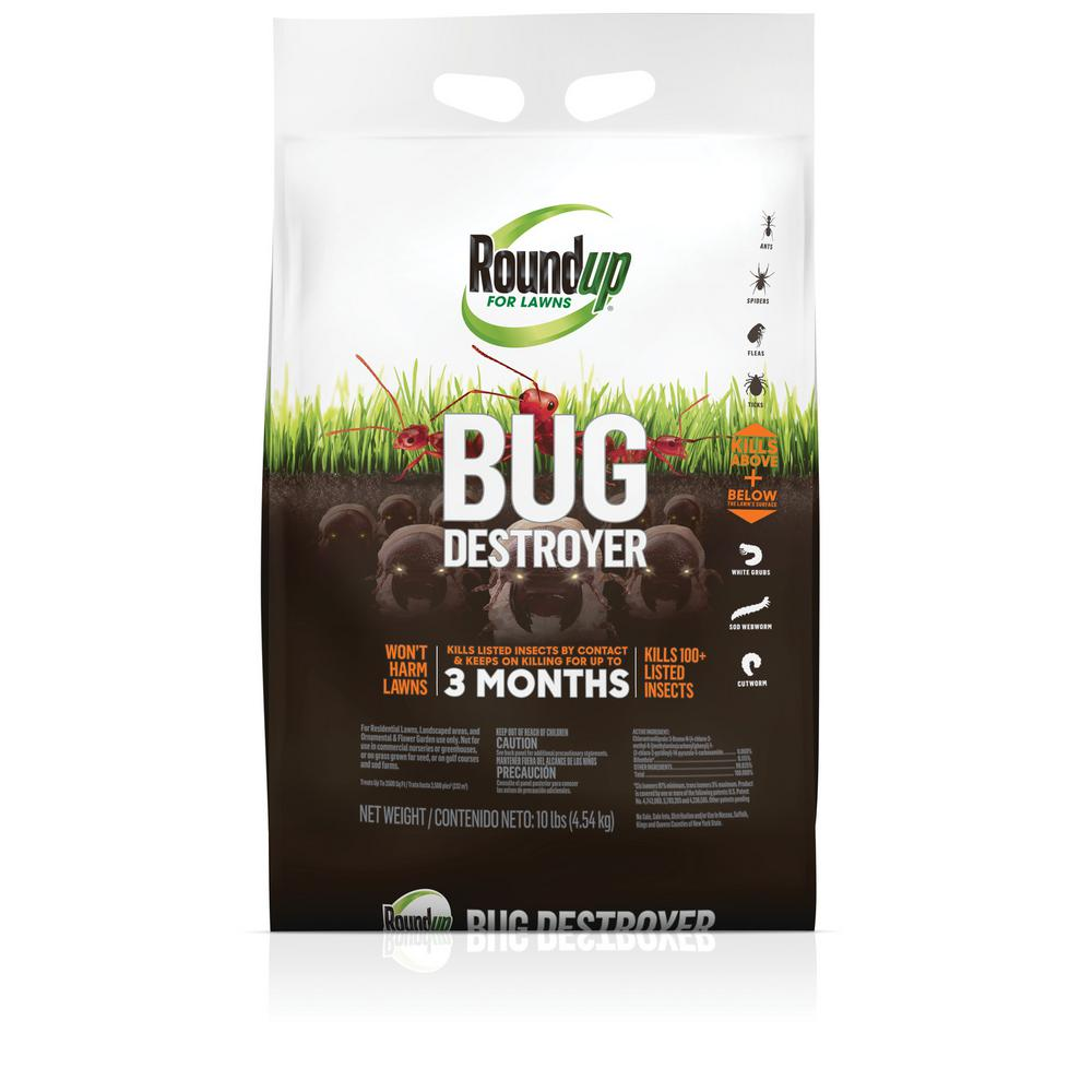 Roundup 10 Lbs Lawns Bug Destroyer 438540405 The Home Depot