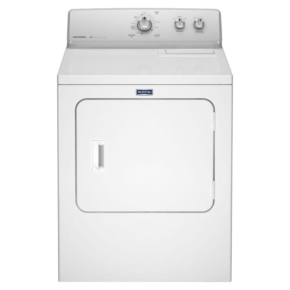 7.0 cu. ft. 240 Volt White Electric Vented Dryer with Wrinkle