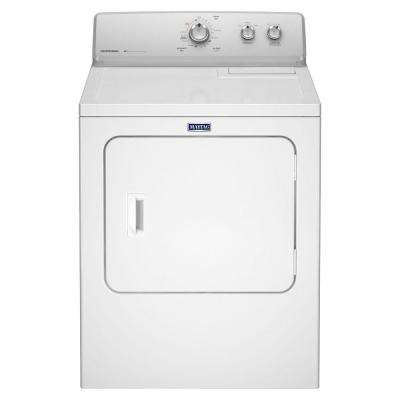 7.0 cu. ft. 240 Volt White Electric Vented Dryer with Wrinkle Control