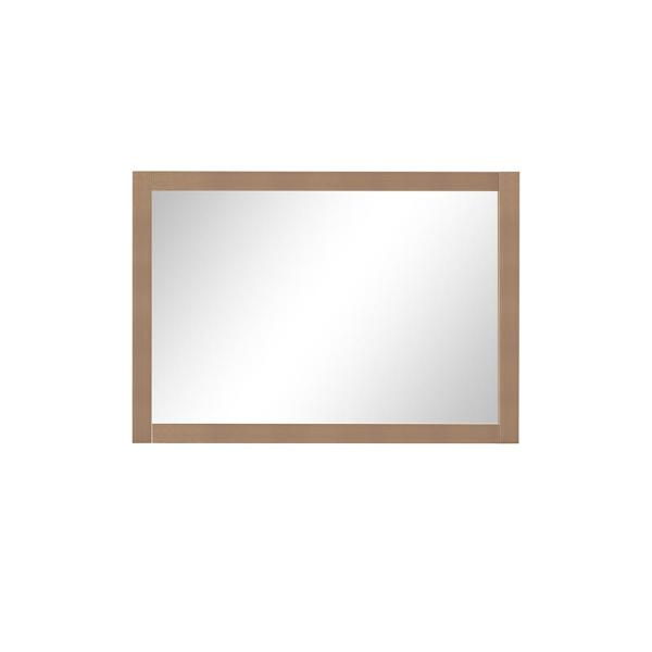 40.00 in. W x 28.00 in. H Framed Rectangular  Bathroom Vanity Mirror in Almond Latte