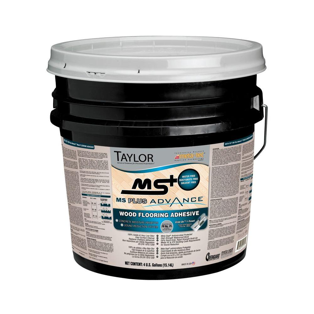 taylor ms plus 4 gal advance wood flooring adhesive msplus 4 the home depot. Black Bedroom Furniture Sets. Home Design Ideas