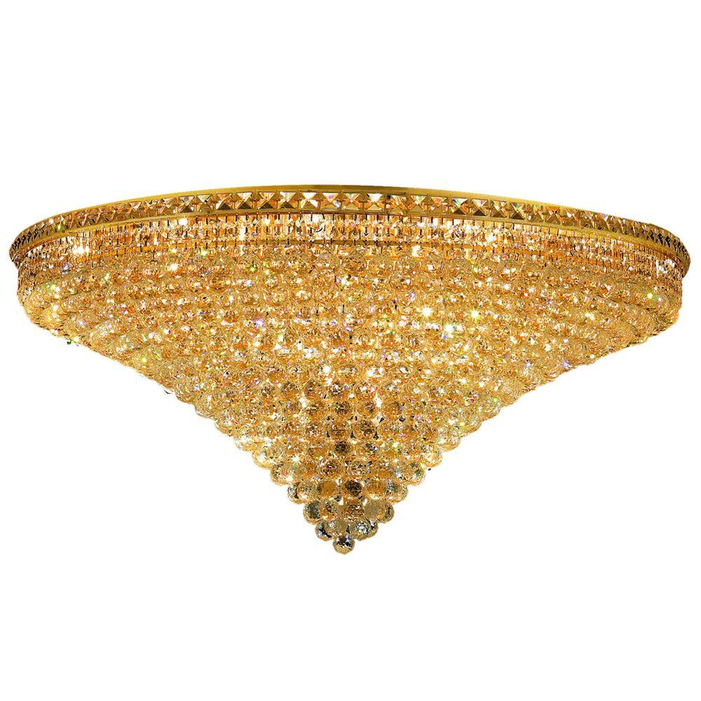 Elegant Lighting 21-Light Gold Flushmount with Clear Crystal