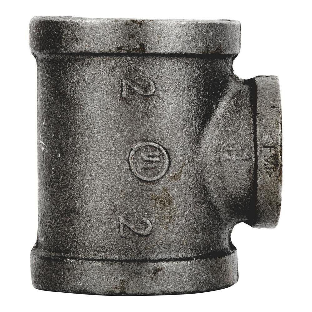 2 in. x 2 in. x 1-1/4 in. Black Iron Reducing Tee