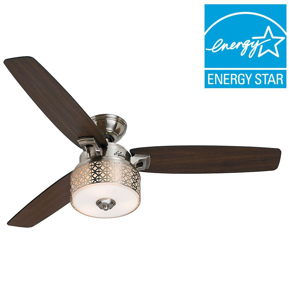 Hunter Camille 52 in. Brushed Chrome Indoor Ceiling Fan