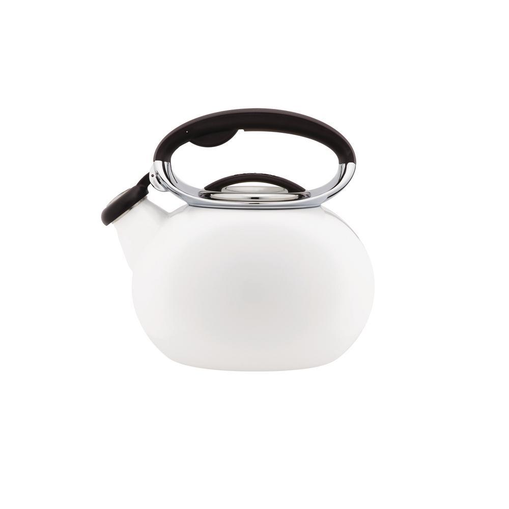 Ellipse 2 Qt. White Tea Kettle
