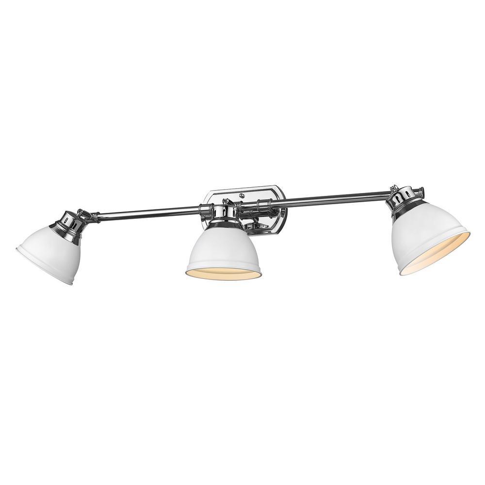 Duncan 8.25 in. 3-Light Chrome Vanity Light