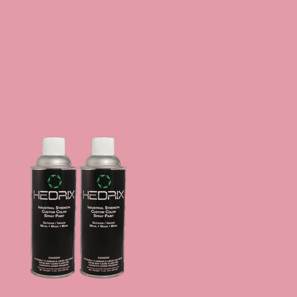Hedrix 11 oz. Match of 110B-4 Foxy Pink Flat Custom Spray Paint (2-Pack)