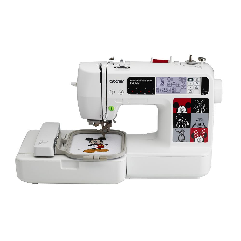 Brother design embroidery machine with disney