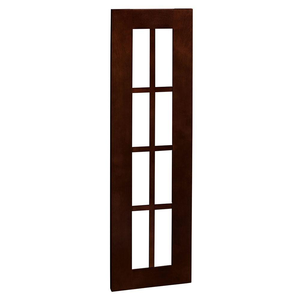 Home Decorators Collection Franklin Assembled 12x42x0.75 in. Mullion Door in Manganite