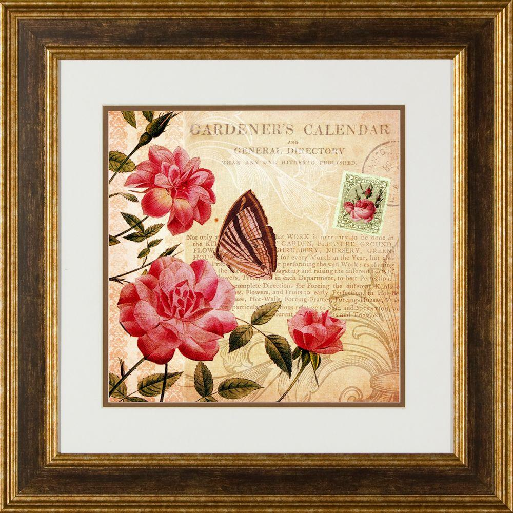 """null 20.5 in. x 20.5 in. """"Botanical Practice B"""" Framed Wall Art"""