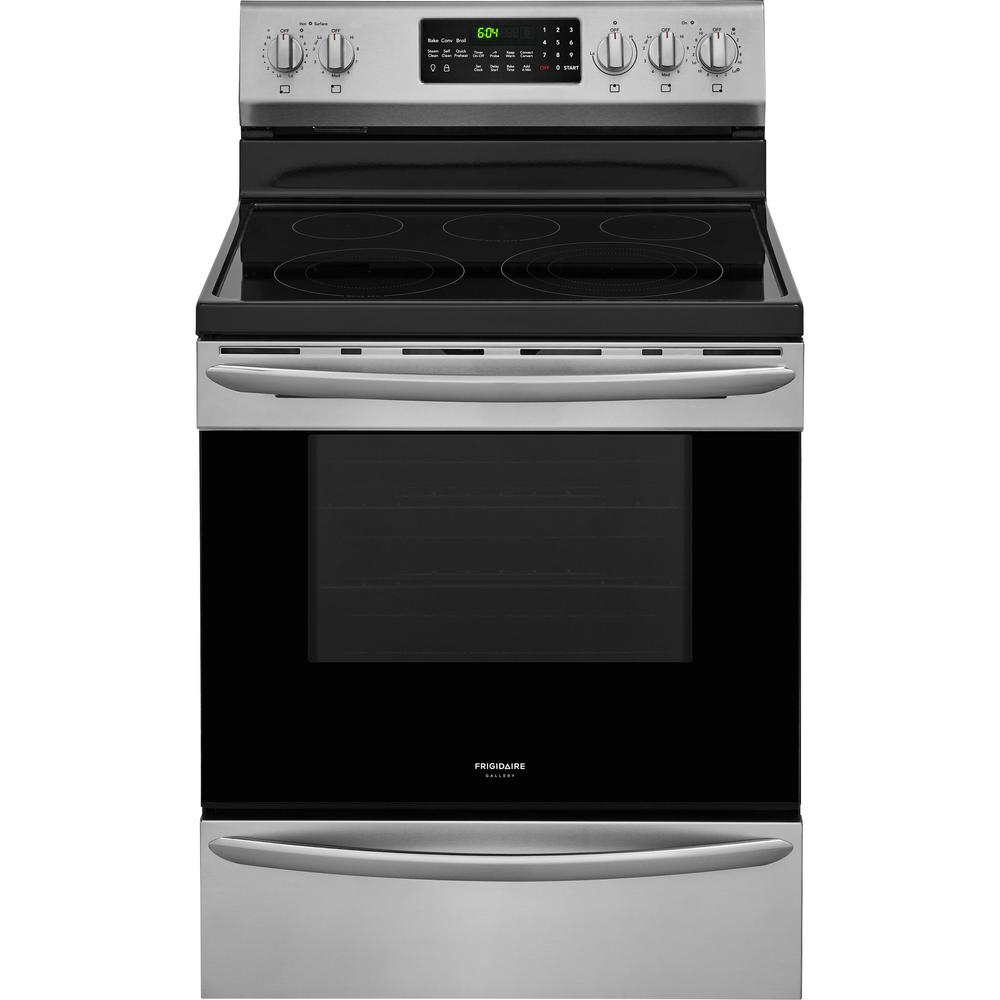 Frigidaire Gallery 5 7 Cu Ft Electric Range With Convection Self Cleaning Oven In