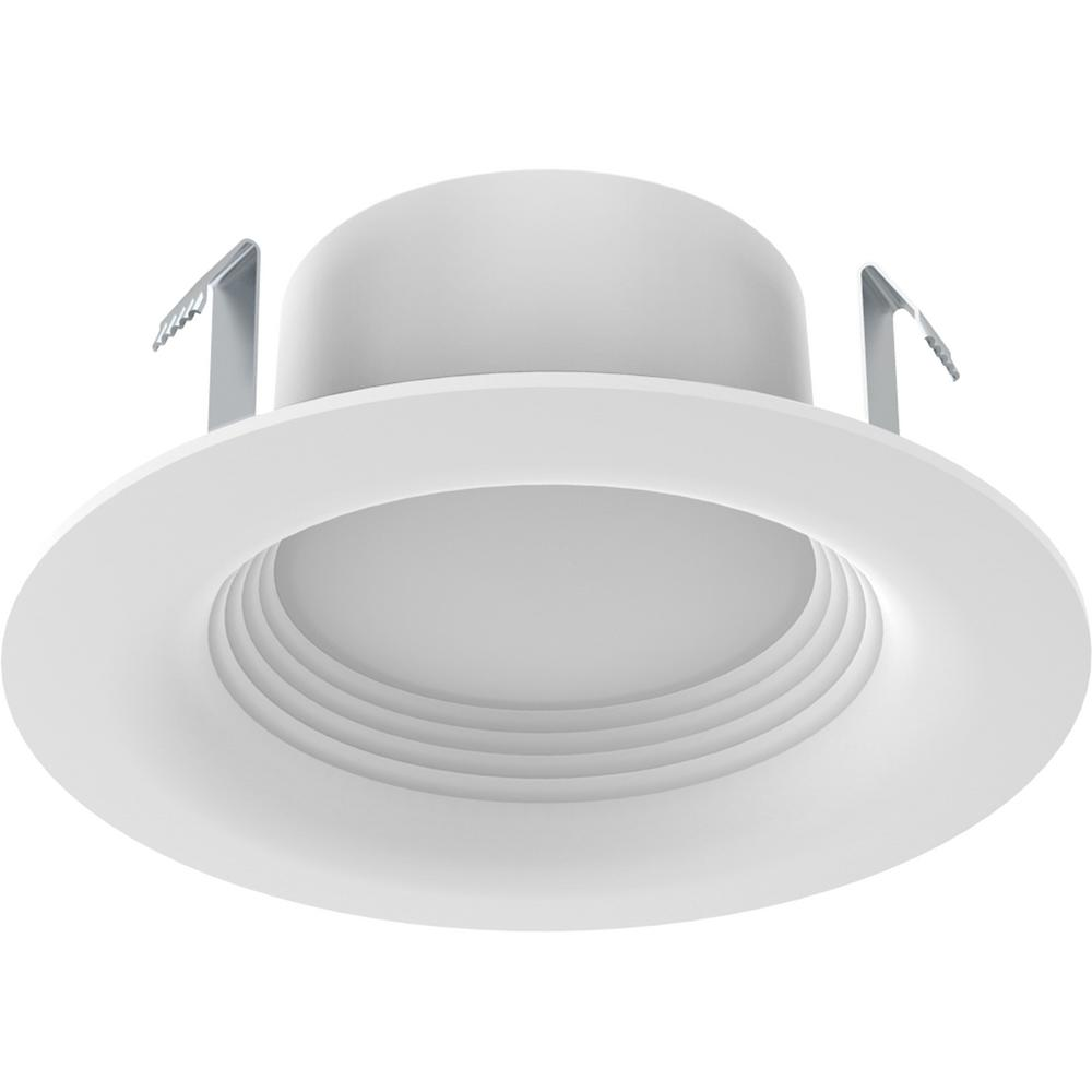 EcoSmart 4 in. White Integrated LED Recessed Trim (3-Pack)