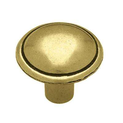 Domed Top 1 in. (26mm) Antique English Round Cabinet Knob