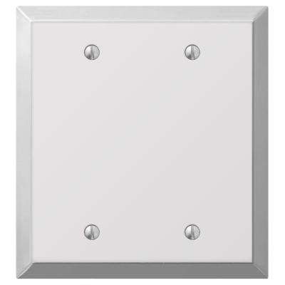 Century 2-Gang Blank Wall Plate - Chrome