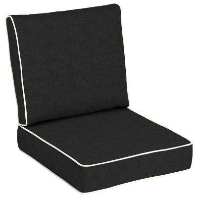 Solid Black Outdoor Chair Cushions Outdoor Cushions The Home