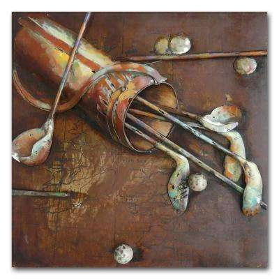 "31 in. x 31 in. ""Vintage Golf"" Metal Wall Art"
