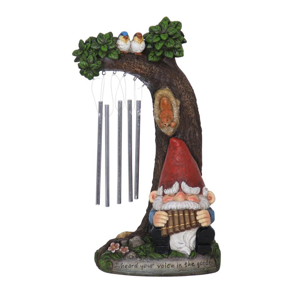 Gnome Wind Chime Statue