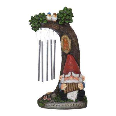 12 in. Gnome Wind-Chime Statue