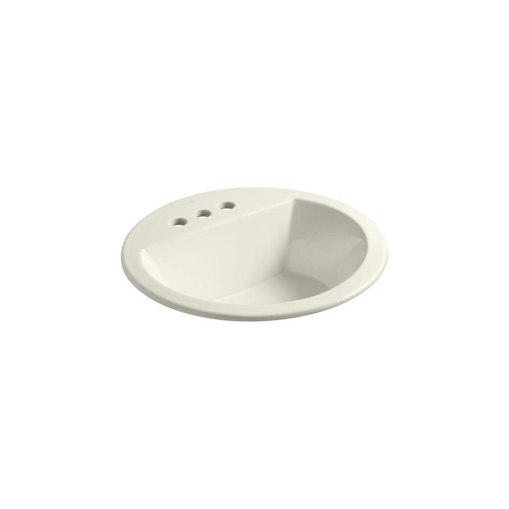 Bryant Drop-in Bathroom Sink in Biscuit