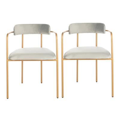 Camille Gray/Gold Accent Chair (Set of 2)
