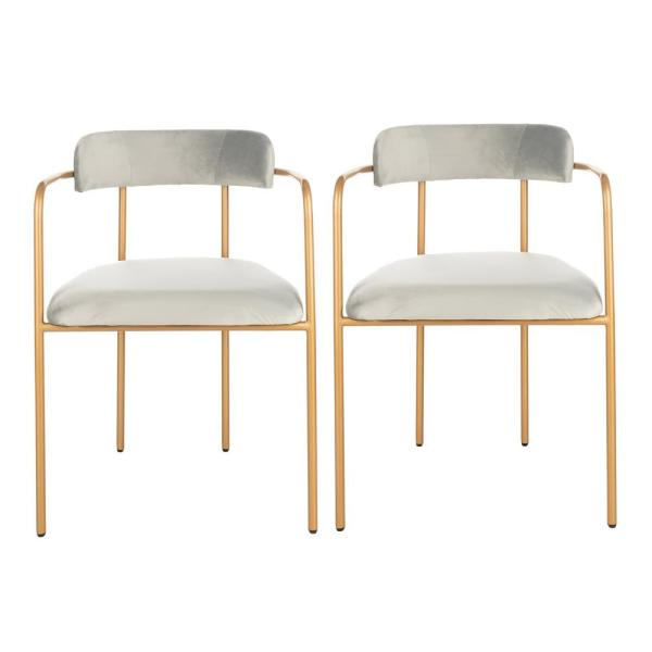 Safavieh Camille Gray/Gold Accent Chair (Set of 2) ACH6201A-SET2
