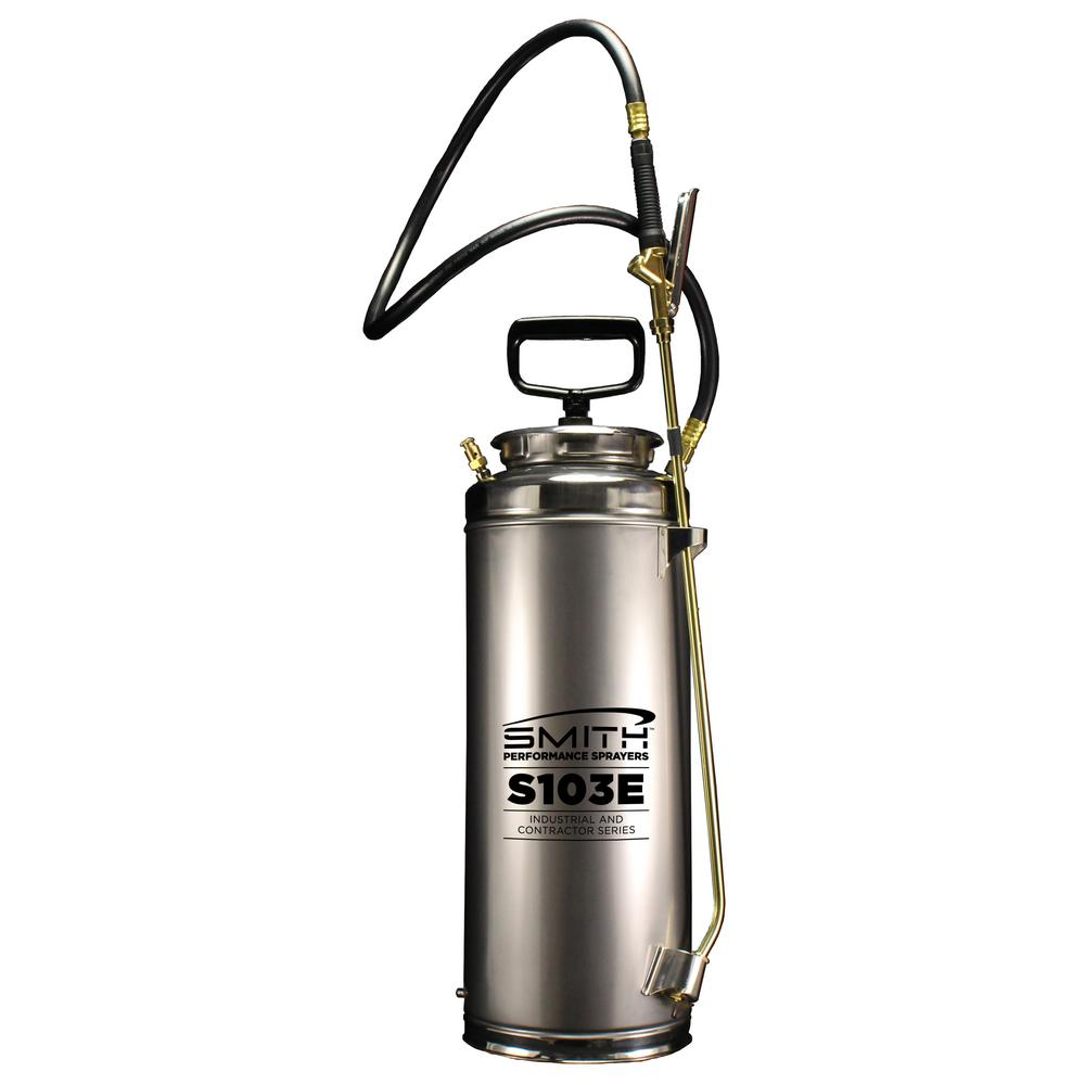 Smith Performance Sprayers 3 5 Gal Industrial And Contractor Stainless Steel Concrete Compression Sprayer 190448 The Home Depot