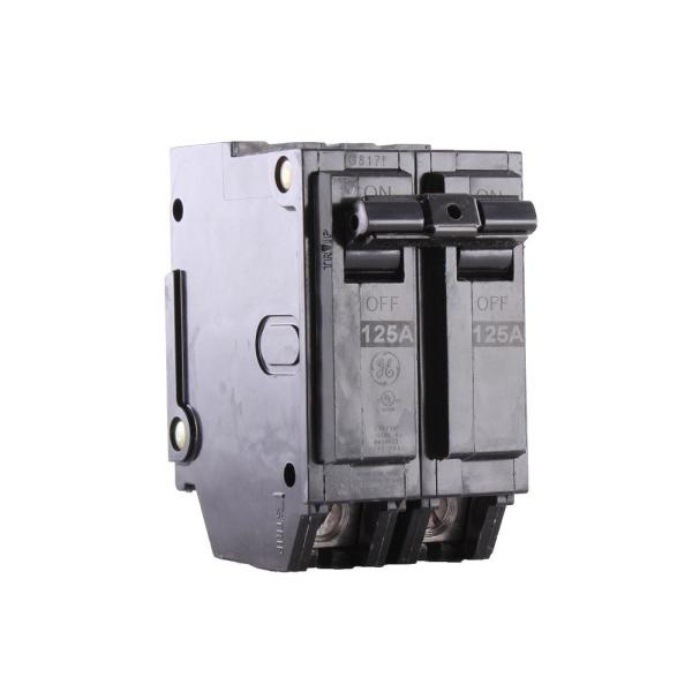 3PK Double Pole Circuit Breaker GE Q-Line 125 Amp 2 in