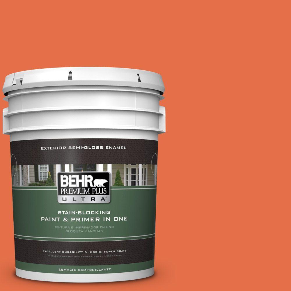 5 gal. #HDC-SM16-03 Mai Tai Semi-Gloss Enamel Exterior Paint