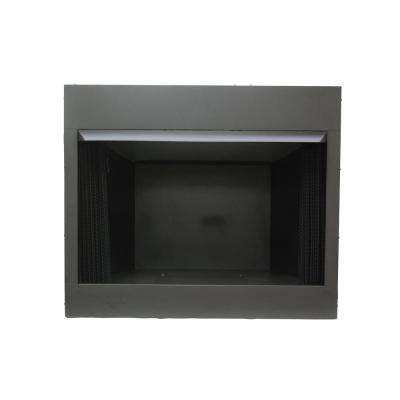 36 in. Vent Free Dual Fuel Circulating Firebox Insert with Screen in Black