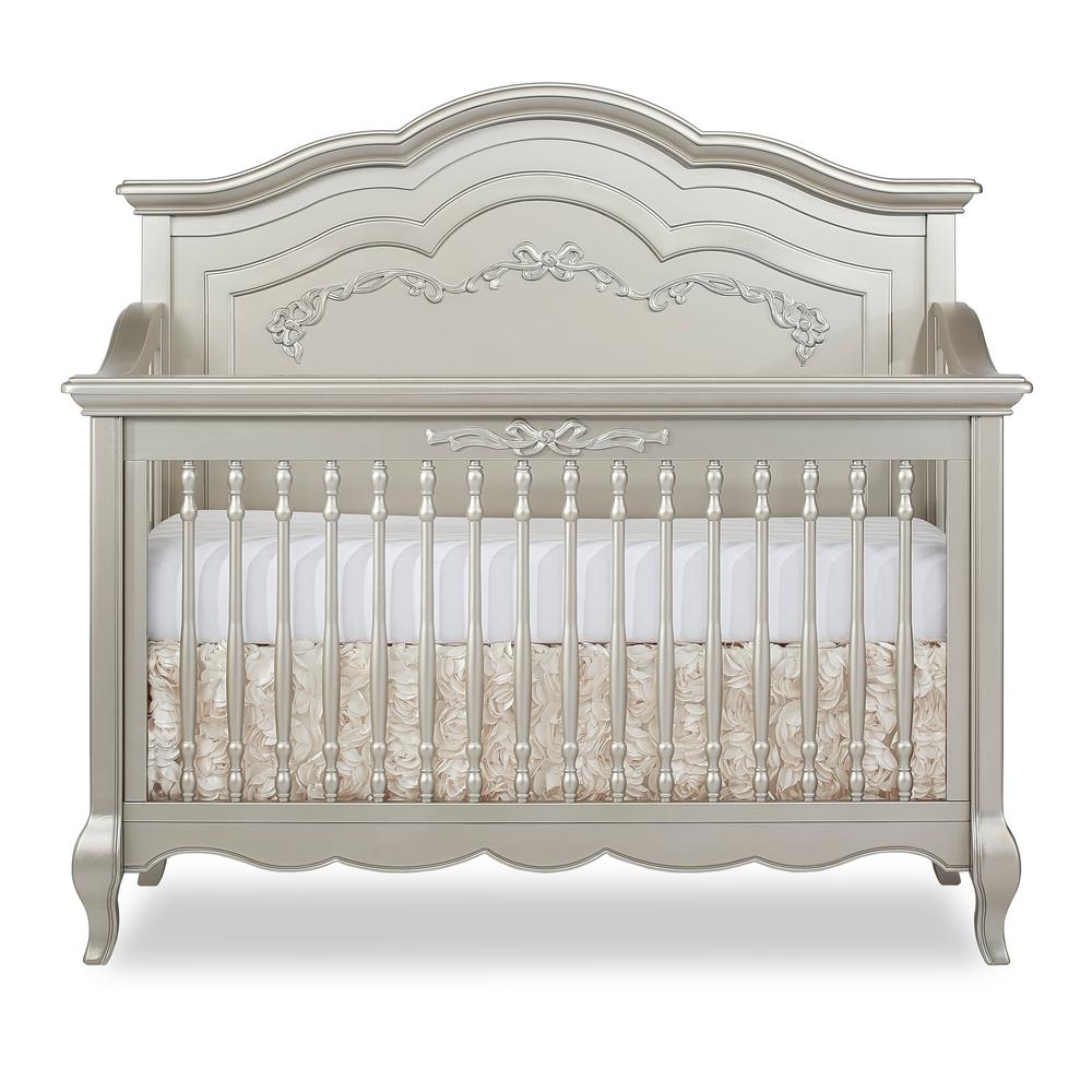 Evolur Aurora Gold Dust 5 In 1 Convertible Crib 832 Gd The Home Depot