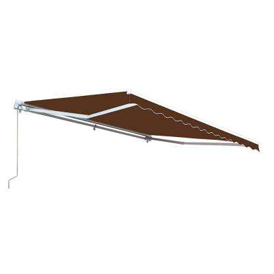 10 ft. Manual Patio Retractable Awning (96 in. Projection) in Brown