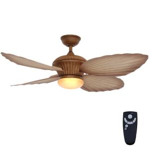 Tropicasa 54 in. Indoor/Outdoor Bahama Beige Ceiling Fan with Light Kit and Remote Control