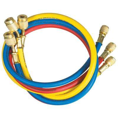 3 ft. Long PolarShield Hoses with 1/4 in. FFL Connections and Automatic Shut-Off Valve (Set of 3)