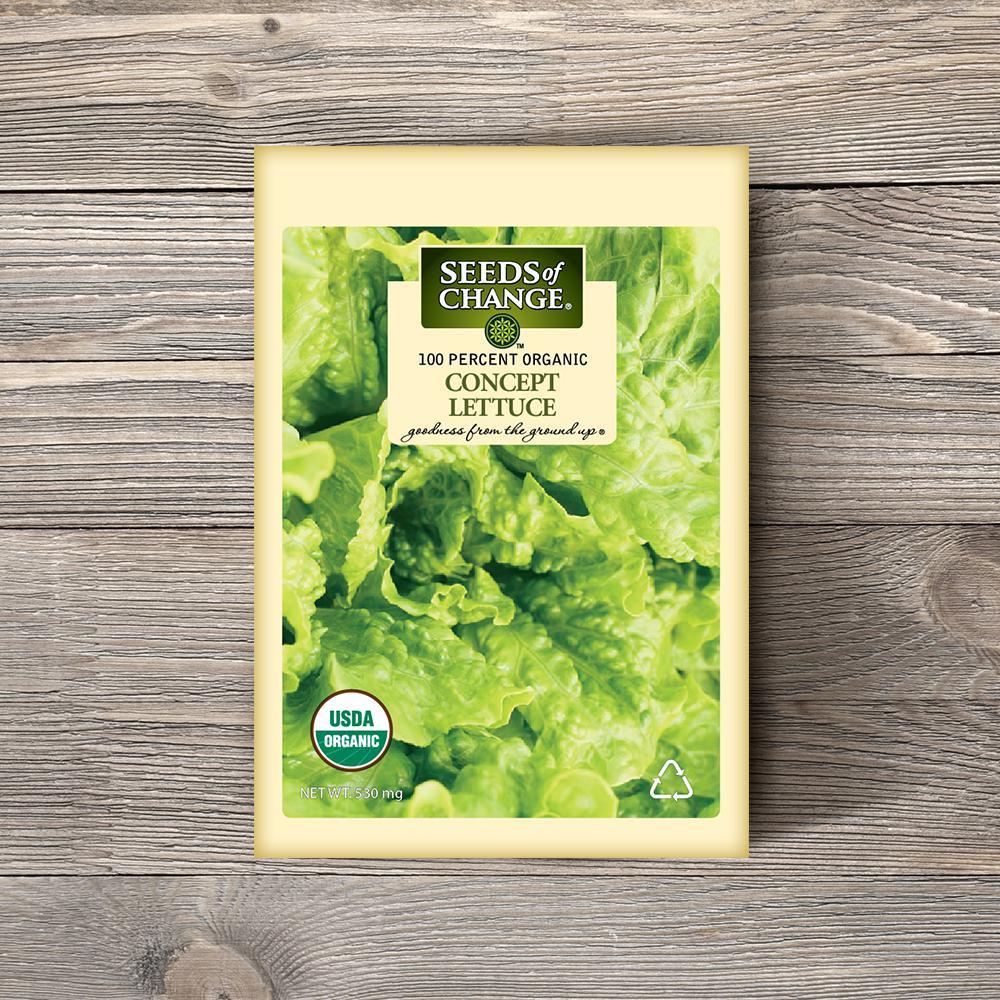 Organic Concept Green Leaf Lettuce Seeds